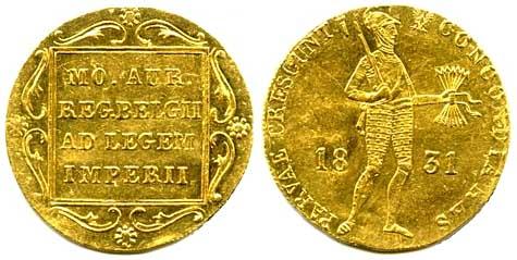 Золотой дукат Польского восстания 1831 года