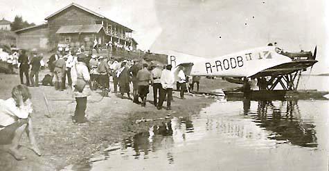 Первый самолет на Коми земле — гидроплан Юнкерс F.13, 14 августа 1925 г.