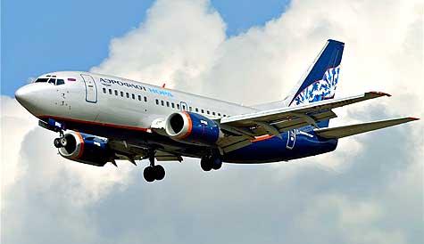 Боинг 737-500 авиакомпании «Аэрофлот-Норд» в полете